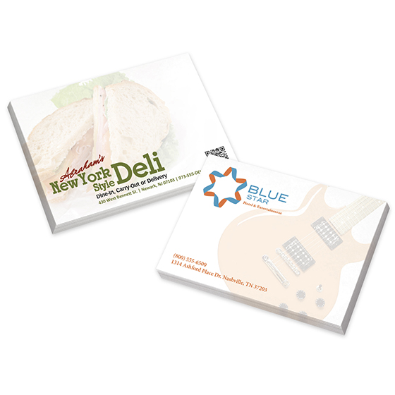 Adhesive Note Pads - 25 Sheets