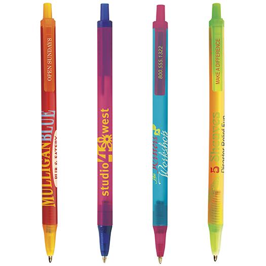 customized bic clic stic ice pens